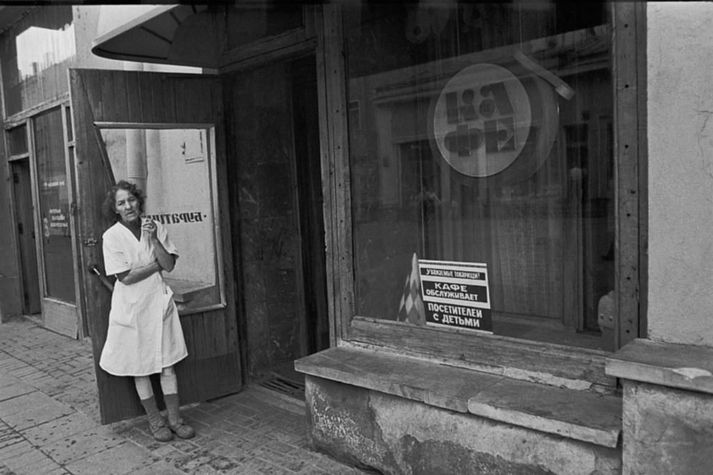 1988. Улица Арбат, 29. У детского кафе «Буратино»