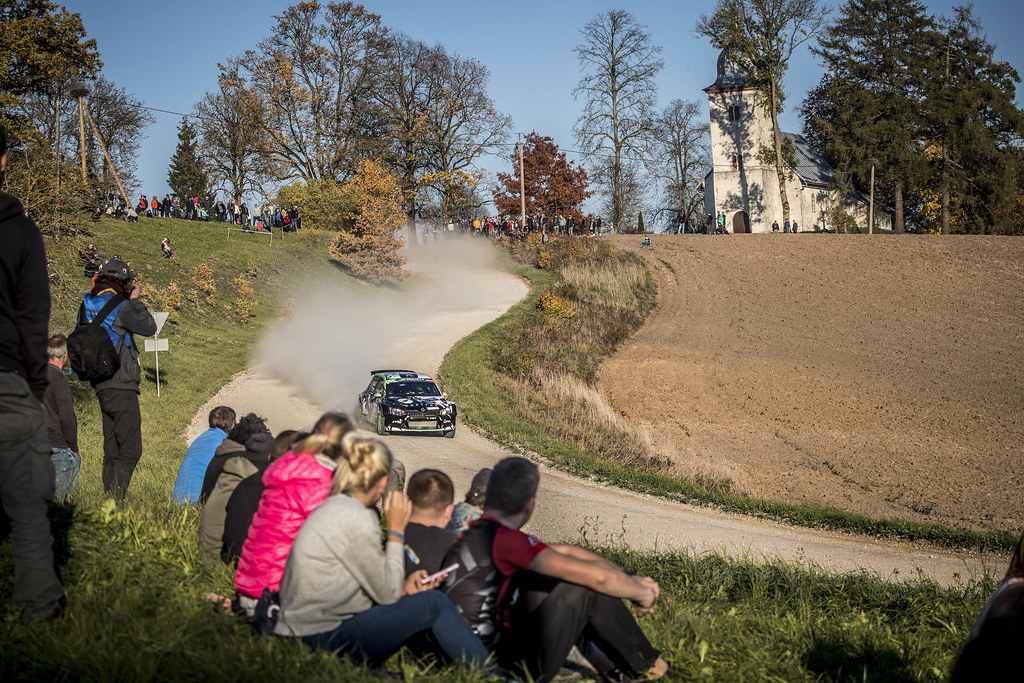 10 YATES Rhys, (GBR), Elliott EDMONDSON, (GBR), Skoda Fabia R5, Action during the 2018 European Rally Championship ERC Liepaja rally,  from october 12 to 14, at Liepaja, Lettonie - Photo Gregory Lenormand / DPPI