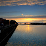 Low Sun at Preston Docks