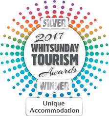 Tourim Whitsunday Awards Silver Winner Logo 2017 - Unique Accom - Copy