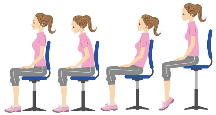 Your normal sitting posture