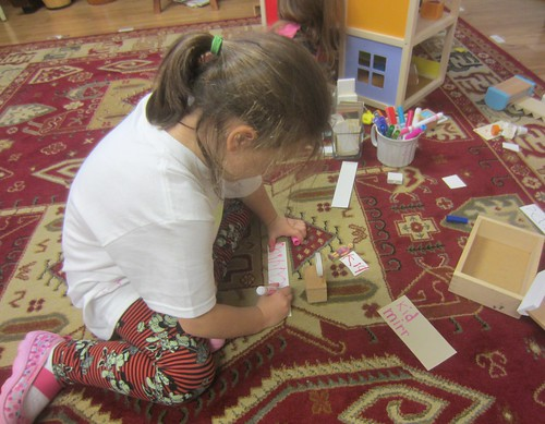 labeling the doll house