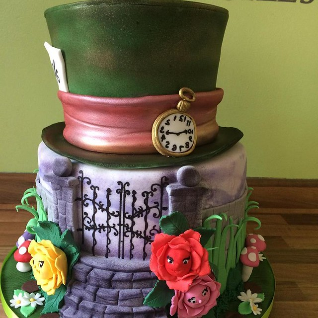 Alice in Wonderland Wedding Cake by Country Kitchen Cakes