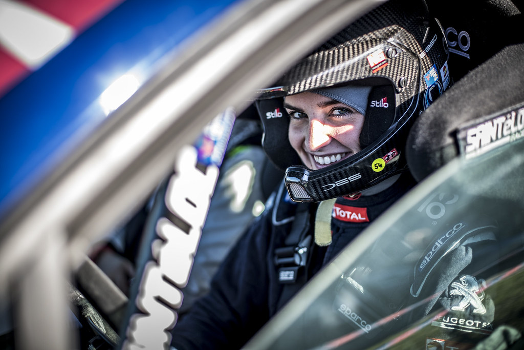 MUNNINGS Catie, (GBR), Sainteloc Junior Team, Peugeot 208 R2, Portrait during the 2018 European Rally Championship ERC Liepaja rally,  from october 12 to 14, at Liepaja, Lettonie - Photo Gregory Lenormand / DPPI