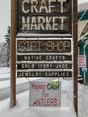 Paying Cash for Antlers, Fairbanks, Alaska