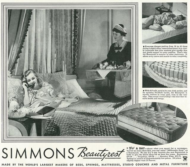 Simmons Beautyrest 1934