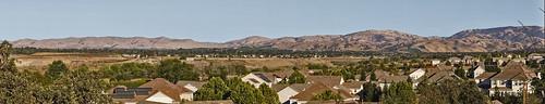 livermorevalley hills dry california panorama