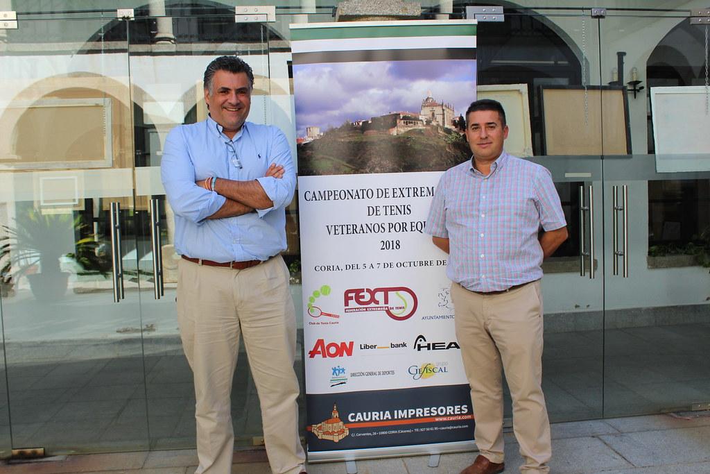La Ciudad de Coria el Campeonato de Extremadura de Tenis de Veteranos por equipos