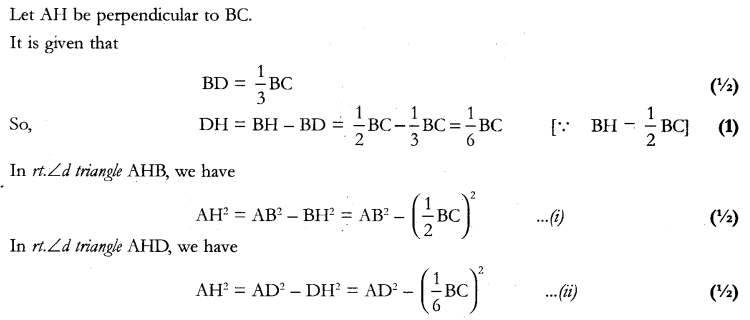 CBSE Sample Papers for Class 10 Maths Paper 11 A 25