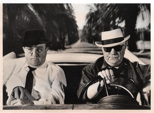 Bernard Blier and Jean Gabin in Le cave se rebiffe (1961)