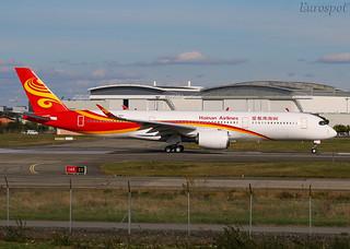 F-WZNX Airbus A350 Hainan Airlines