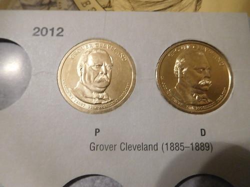 Grover Cleveland dollars in folder