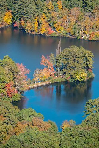 stonemountain lake fall water autumn november
