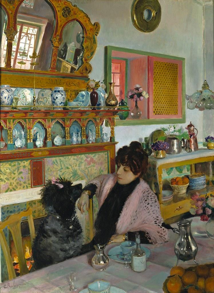 Georges Rochegrosse - Marie Rochegrosse dans la Salle à Manger