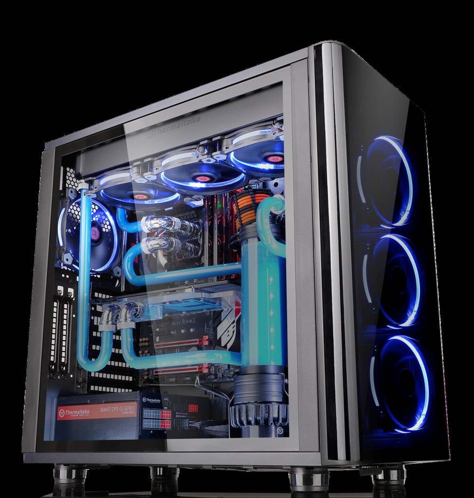 Thermaltakes View 31 Tempered Glass Edition Mid  Tower Chassis.