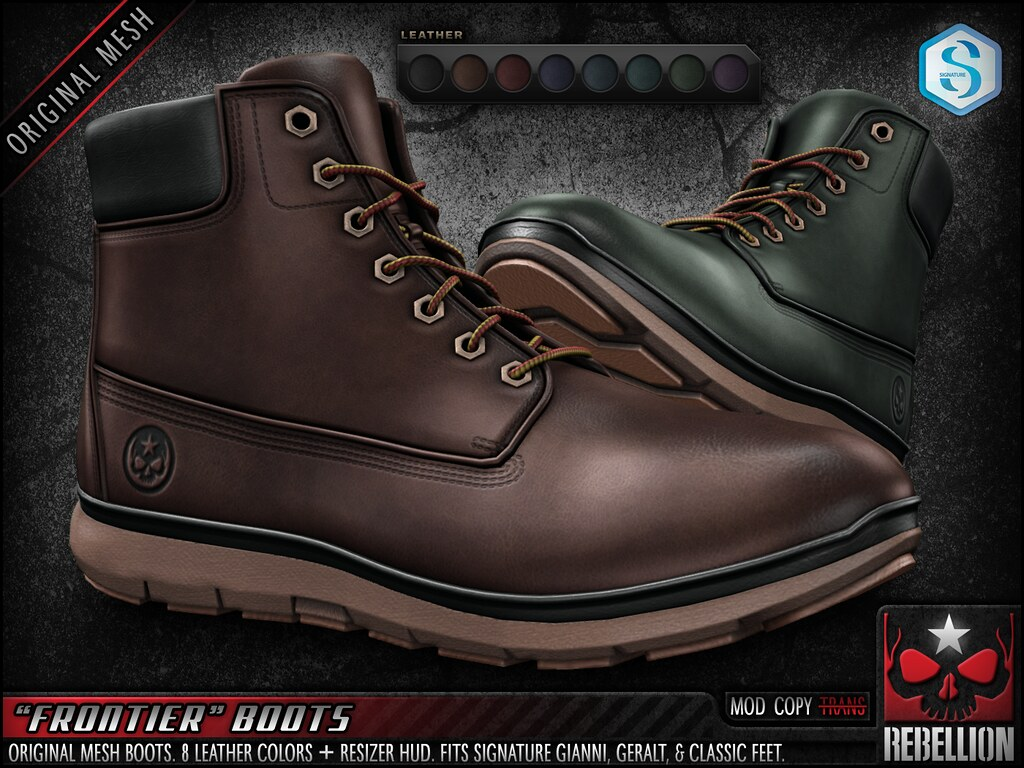 "= REBELLION = ""FRONTIER"" BOOTS"