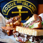 Open For Lunch With Almost Patio Weather. Come Through! :sun_with_face: DBLT (Duck Confit | Duck Skin Bacon BLT On Special Till It's Gone) • • • • #foodtruck #foods #foodblogger #eatfamous #foodpassion #chef #rogueisland #rogue #arcadeprovidence #foodie #