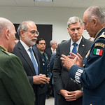 Thu, 09/20/2018 - 13:36 - On Thursday, September 20, 2018, the William J. Perry Center for Hemispheric Defense Studies honored General Salvador Cienfuegos Zepeda, Secretary of National Defense of Mexico, and Escola Superior de Guerra (ESG), National War College of Brazil, with the 2018 William J. Perry Award for Excellence in Security and Defense Education. Named after the Center's founder, former U.S. Secretary of Defense Dr. William J. Perry, the Perry Award is presented annually to individuals who and institutions that have made significant contributions in the fields of security and defense education. From the many nominations received, awardees are selected for achievements in promoting education, research, and knowledge-sharing in defense and security issues in the Western Hemisphere. Awardees' contributions to their respective fields further democratic security and defense in the Americas and, in so doing, embody the highest ideals of the Center and the values embodied by the Perry Award.