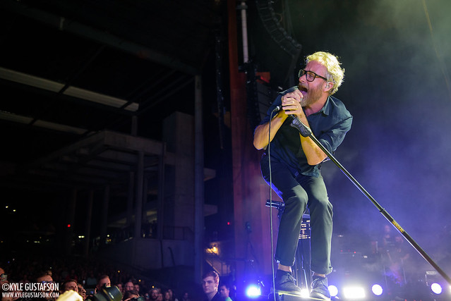 The National perform at Merriweather Post Pavilion in Columbia, MD.