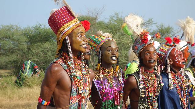 Wodaabe men. Gerewol festival ,Chad 2018