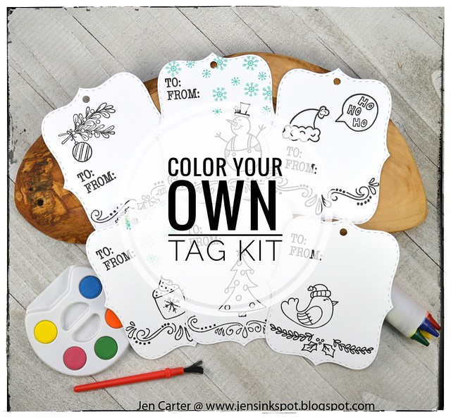 Jen Carter Make Own Tag Kits  Graphic
