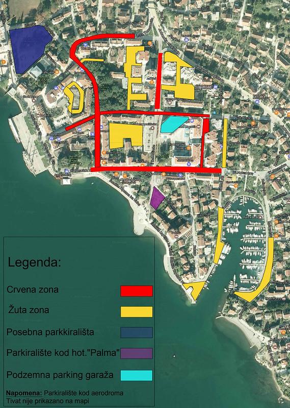 Карта парковок в Тивате