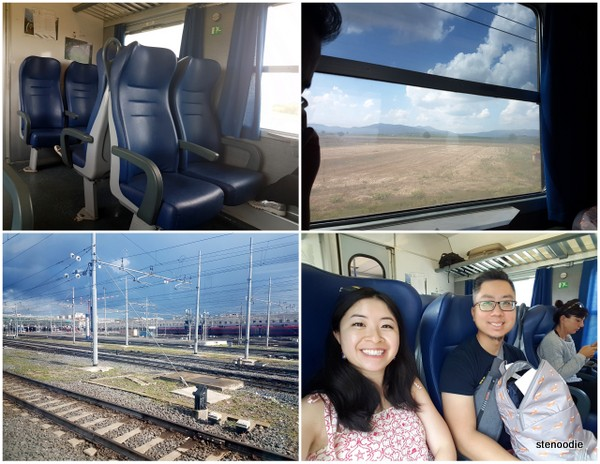 Train ride from Rome to Pisa