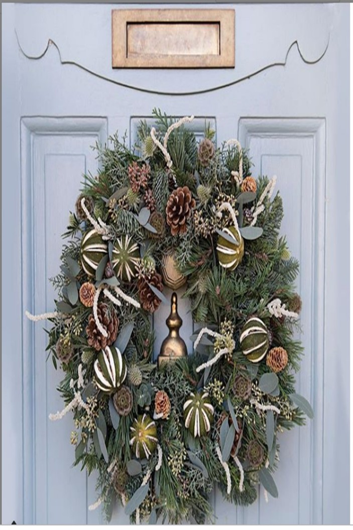 25 Great DIY to decorate your door at Christmas #diy #gift #Christmas_door_ideas #home_decor_diy