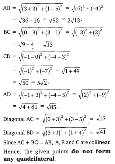 NCERT Solutions for Class 10 Maths Chapter 7 Coordinate Geometry 9