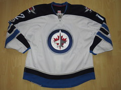 Winnipeg Jets 2016 - 2017 road Game Worn Jersey