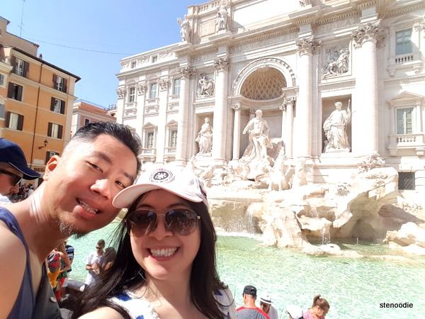 Trevi Fountain selfies