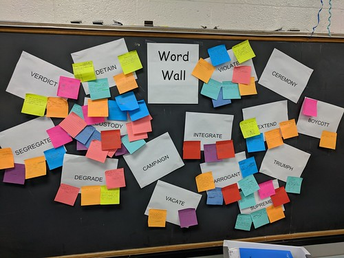 Word Wall with Context Sticky Notes
