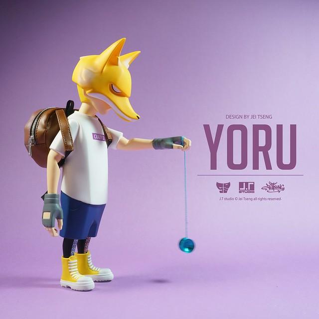 """J.T studio 8"""" Vinyl 系列【YORU】搪膠人偶作品"""