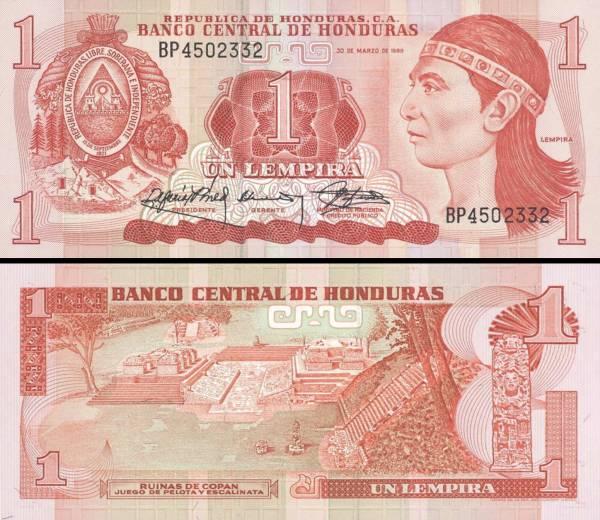 1 Lempira Honduras 1989, P68c