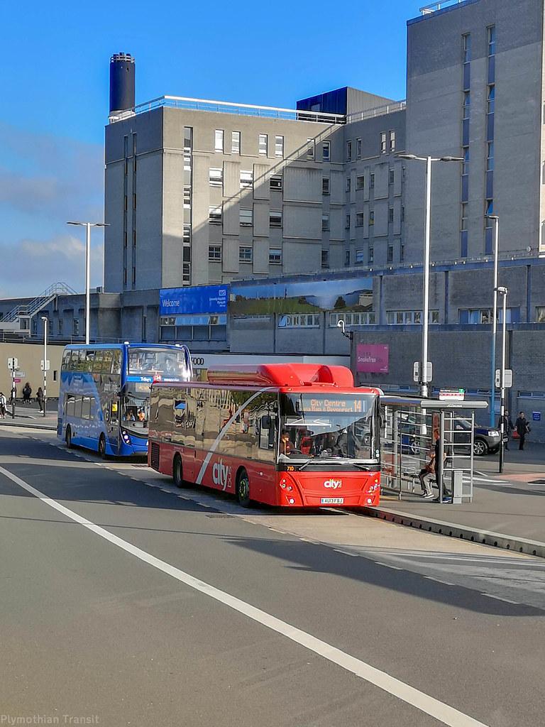 Plymouth Citybus 710 AU13FBJ