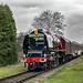 Class 8P, 6233 'Duchess of Sutherland' works 1J56 Rawtenstall to Heywood, East Lancashire Railway 19.10.2018