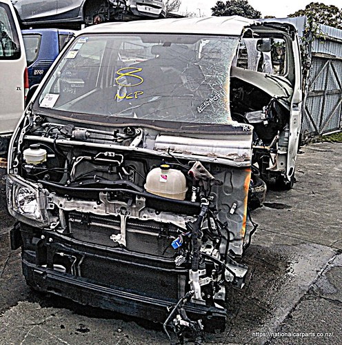 This is how a wrecked Van looks like