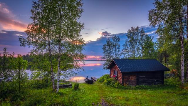 Kallunkijärvi sunset