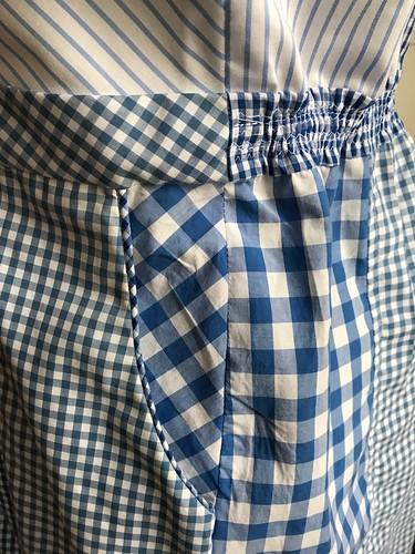 shirt-shirtdress pocket + piping