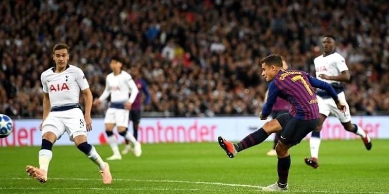 Rakitic dan Coutinho Ikut Sumbang Gol ke Gawang Tottenham