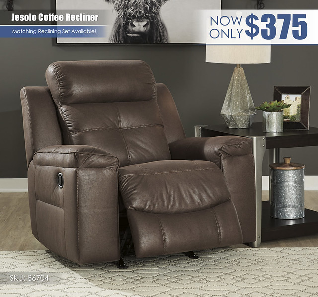 Jesolo Coffee Reclining Set_86704-25-OPEN