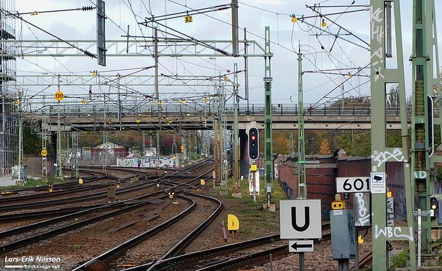 Organiserat kaos när järnvägen går under Kung Oscars Bro i Lund