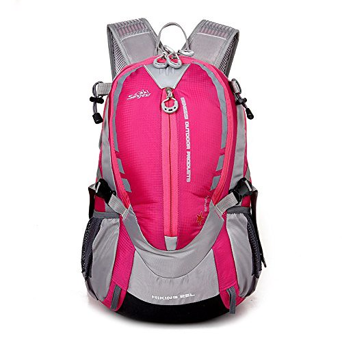 X-Freedom 25L Cool Hiking Cycling Backpack Running Camping Backpack Outdoor Sport Backpack Rucksack Bag Lightweight Daypack (Hot Pink) Review