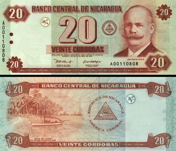 20 Córdobas Nikaragua 2002, P192
