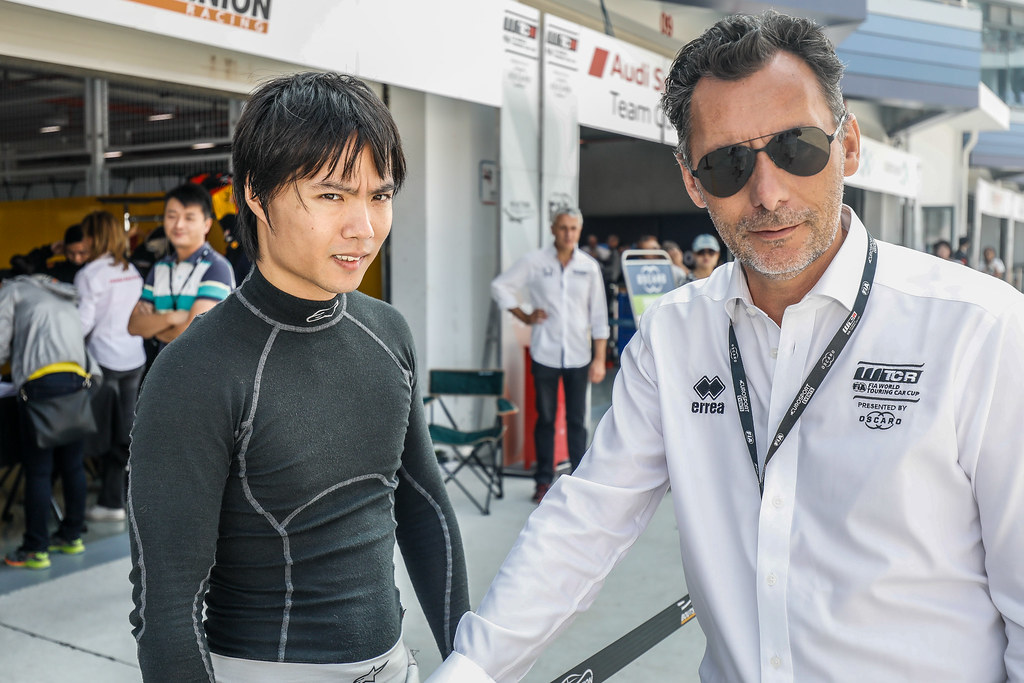 QING HUA Ma (chn), Honda Civic TCR team Boutsen Ginion Racing, portrait, RIBEIRO François, WTCR Eurosport Motorsport Director, portrait, during the 2018 FIA WTCR World Touring Car cup of China, at Ningbo  from September 28 to 30 - Photo Marc de Mattia / DPPI