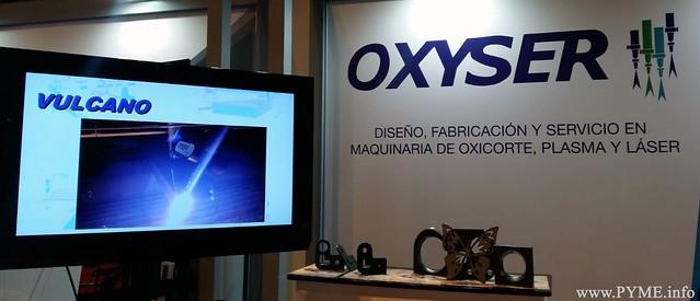Imagen del stand de la empresa salmantina Oxyser en la feria MetalMadrid18.