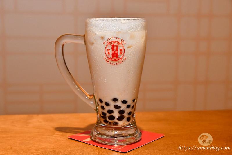 台中美食-有春茶館|珍珠烏龍春奶茶(小) $70