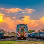 6. Oktoober 2018 - 18:54 - Trains at the Museum of the American Railroad in Frisco, Texas, taken during the golden hour at the 2018 Scott Kelby's Worldwide Photowalk.