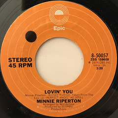 MINNIE RIPERTON:LOVIN' YOU(LABEL SIDE-A)