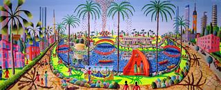 כיכר דיזינגוף החדשה ציור הכיכר דיזנגוף המחודשת חדשה תל אביב
